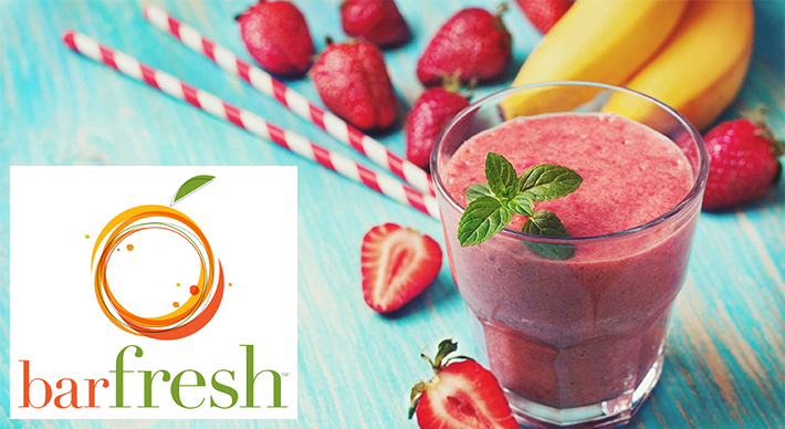barfresh logo and smoothie