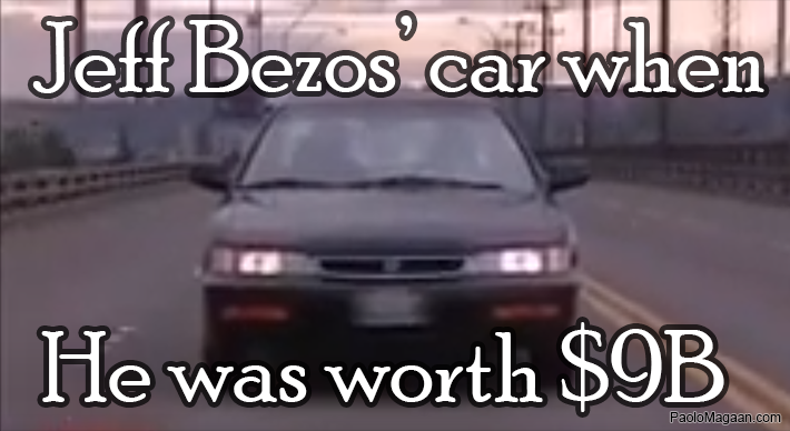jeff bezos car when he was worth $9b